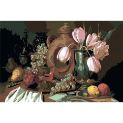 Фрукты и тюльпаны