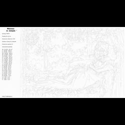 Картина по номерам - Муза на балконе
