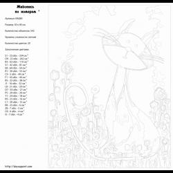 Картина по номерам - Кот на поле