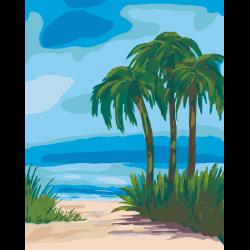 Картина по номерам, Пальмы