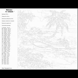 Картина по номерам, Тропический берег