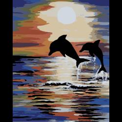 Картина по номерам, Прыжок дельфинов