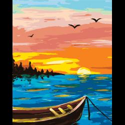 Картина по номерам, У берега реки