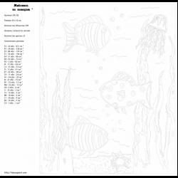 Картина по номерам - Подводный мир
