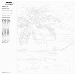 Картина по номерам, Тропический вечер