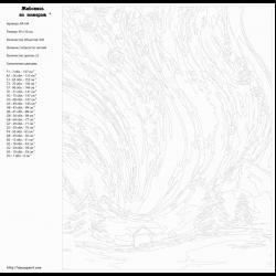 Картина по номерам, Северное сияние