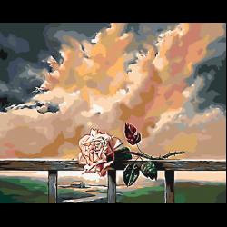 Картина по номерам - Одинокая роза