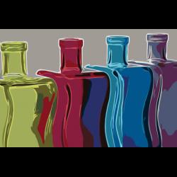 Дикоративные бутыли