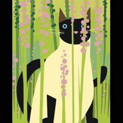 Картина по номерам - Кот в траве