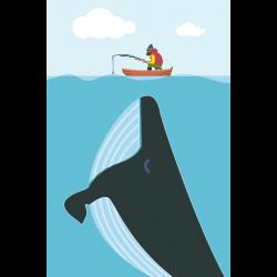 Картина по номерам - Большой кит