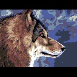 Картина по номерам - Волк