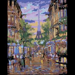 Картина по номерам, Париж