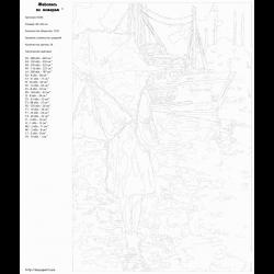 Картина по номерам - Дождливая пристань