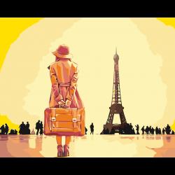 Картина по номерам - Здравствуй, Париж
