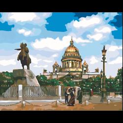 Картина по номерам, Собор на площади