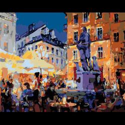Картина по номерам, Памятник на площади