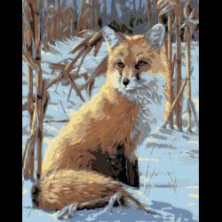 Картина по номерам - Лиса зимой