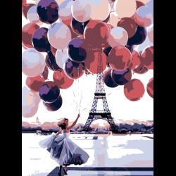 Картина по номерам, Шарики в Париже