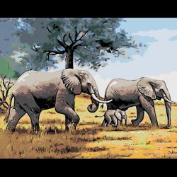 Прогулка слонов
