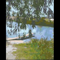Картина по номерам - Летняя речка