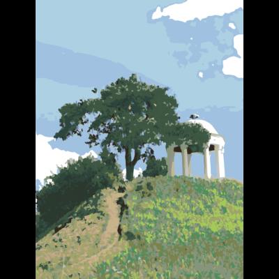 Картина по номерам - Беседка у дерева